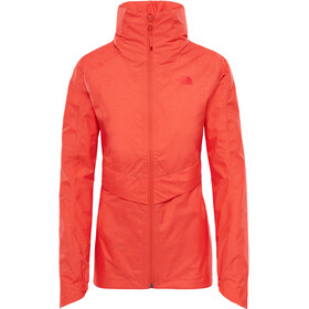 The North Face W's Inlux Dryvent Jacket Fire Brick Red Heather